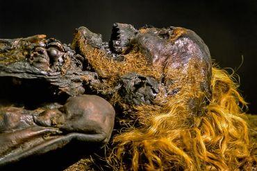 Der rote Franz, eine 1700Jahre alte Moorleiche aus dem Emsland. Das Moorwasser färbte seine Haare rot